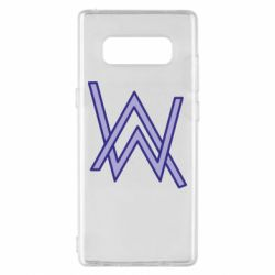 Чехол для Samsung Note 8 Alan Walker neon logo