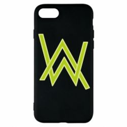 Чехол для iPhone 8 Alan Walker neon logo