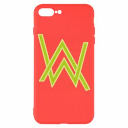 Чехол для iPhone 8 Plus Alan Walker neon logo
