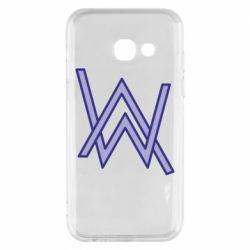 Чехол для Samsung A3 2017 Alan Walker neon logo