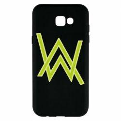 Чехол для Samsung A7 2017 Alan Walker neon logo