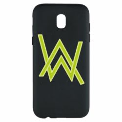 Чехол для Samsung J5 2017 Alan Walker neon logo
