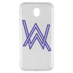Чехол для Samsung J7 2017 Alan Walker neon logo