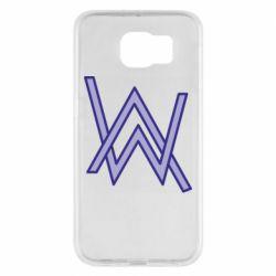 Чехол для Samsung S6 Alan Walker neon logo