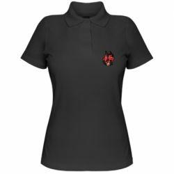 Женская футболка поло Alastor head