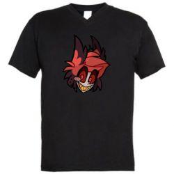 Мужская футболка  с V-образным вырезом Alastor head