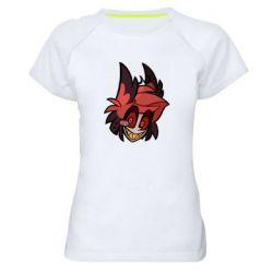 Женская спортивная футболка Alastor head