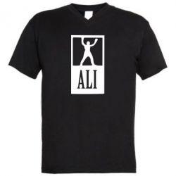 Мужская футболка  с V-образным вырезом Ali