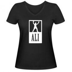 Женская футболка с V-образным вырезом Ali