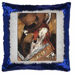 Подушка-хамелеон Alice fox in top hat