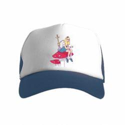 Детская кепка-тракер Alice smokes a hookah