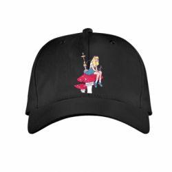 Детская кепка Alice smokes a hookah