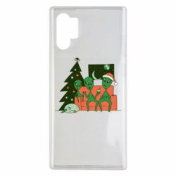 Чехол для Samsung Note 10 Plus Alien and Christmas tree