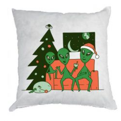 Подушка Alien and Christmas tree