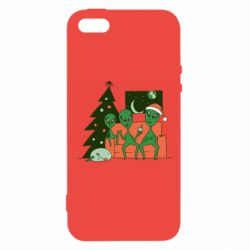 Чехол для iPhone5/5S/SE Alien and Christmas tree