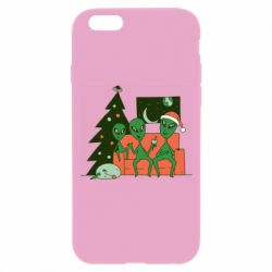Чехол для iPhone 6/6S Alien and Christmas tree