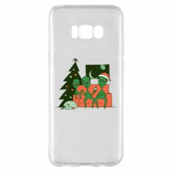 Чехол для Samsung S8+ Alien and Christmas tree