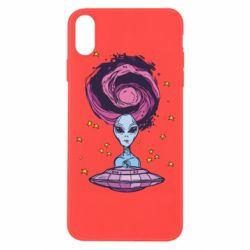 Чехол для iPhone Xs Max Alien and flying saucer