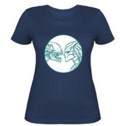 Женская футболка Alien and Predator
