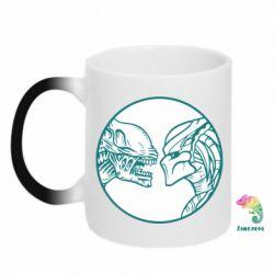 Кружка-хамелеон Alien and Predator