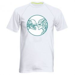 Мужская спортивная футболка Alien and Predator