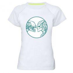 Женская спортивная футболка Alien and Predator