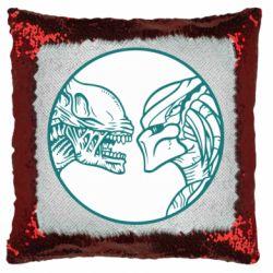 Подушка-хамелеон Alien and Predator