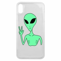 Чехол для iPhone Xs Max Alien and two fingers