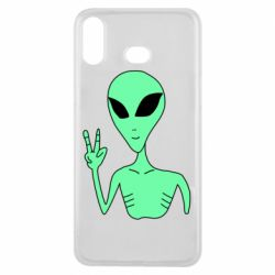 Чехол для Samsung A6s Alien and two fingers