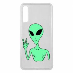 Чехол для Samsung A7 2018 Alien and two fingers