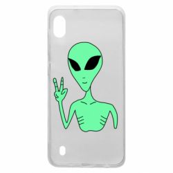 Чехол для Samsung A10 Alien and two fingers