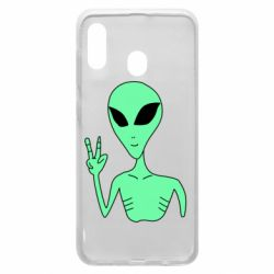 Чехол для Samsung A20 Alien and two fingers