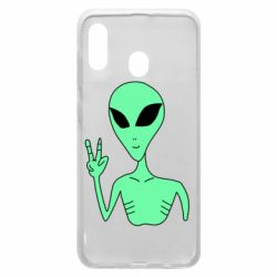 Чехол для Samsung A30 Alien and two fingers
