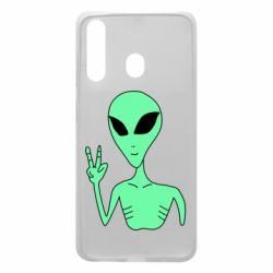 Чехол для Samsung A60 Alien and two fingers