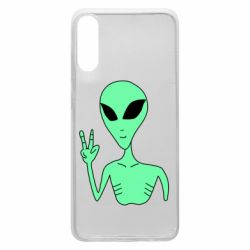Чехол для Samsung A70 Alien and two fingers
