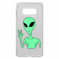 Чехол для Samsung S10e Alien and two fingers