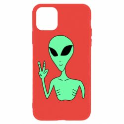 Чехол для iPhone 11 Alien and two fingers