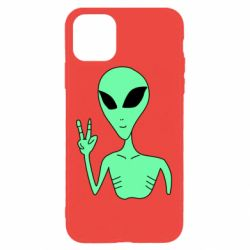 Чехол для iPhone 11 Pro Max Alien and two fingers