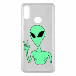 Чехол для Samsung A10s Alien and two fingers