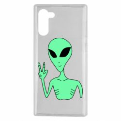 Чехол для Samsung Note 10 Alien and two fingers