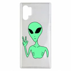Чехол для Samsung Note 10 Plus Alien and two fingers