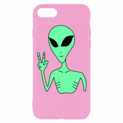 Чехол для iPhone 7 Alien and two fingers