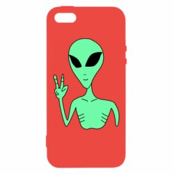 Чехол для iPhone5/5S/SE Alien and two fingers