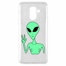 Чехол для Samsung A6+ 2018 Alien and two fingers
