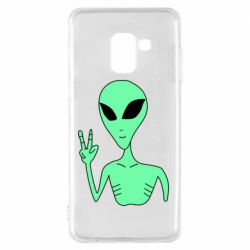Чехол для Samsung A8 2018 Alien and two fingers