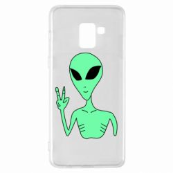 Чехол для Samsung A8+ 2018 Alien and two fingers