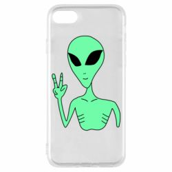 Чехол для iPhone 8 Alien and two fingers