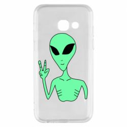 Чехол для Samsung A3 2017 Alien and two fingers