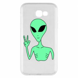 Чехол для Samsung A7 2017 Alien and two fingers