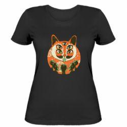 Женская футболка Alien Cat